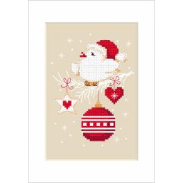 Zahlmuster online - Weihnachtskarte - Vogel