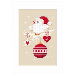 Zählmuster - Weihnachtskarte - Vogel