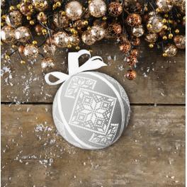 Stickpackung - Fantasievolle Weihnachtskugel
