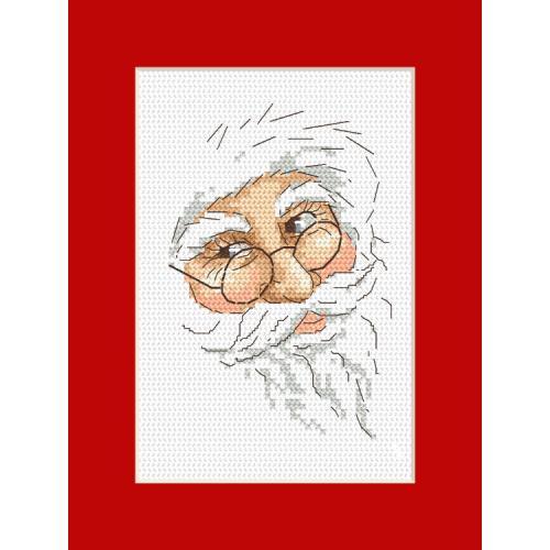Zahlmuster online - Karte mit Nikolaus