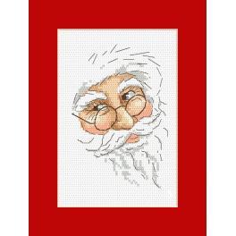 Zählmuster - Karte mit Nikolaus