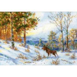 Stickpackung - Elch im Winterwald nach V. L. Muranov