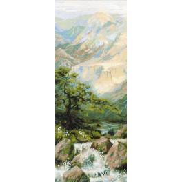 Set mit Wollgarn - Bergfluss