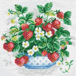 Diamond Painting Set - Korb mit Erdbeeren