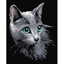 Diamond Painting Set - Russische Katze