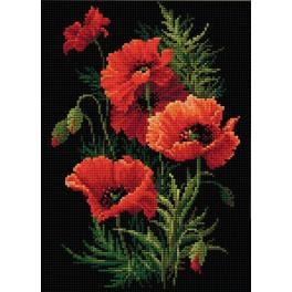 Diamond Painting Set - Mohnblumen