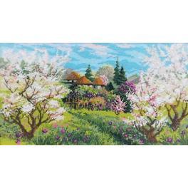 Set mit Wollgarn - Frühlingsobstgarten