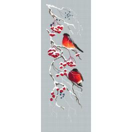 Zahlmuster online - Roter Schneeball