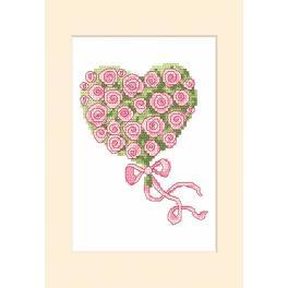 Zählmuster - Gelegenheitskarte - Herz