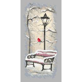 Stickpackung - Winterbänkchen