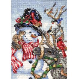 Stickpackung - Schneemännchen und Rentier