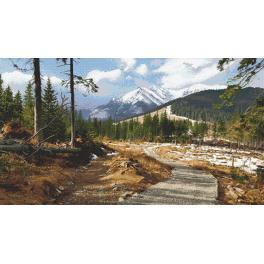 Zahlmuster online - Bergweg