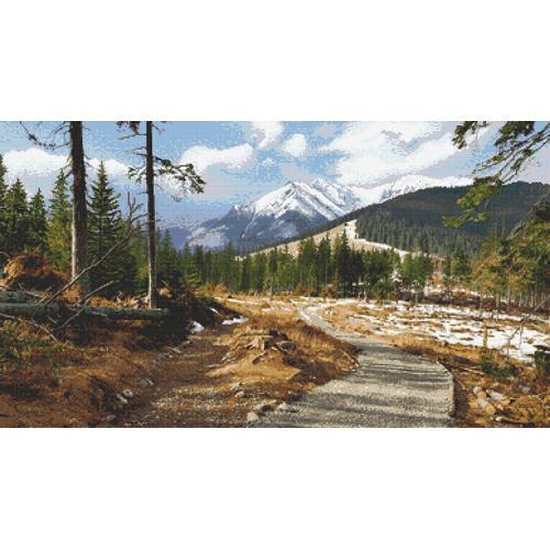 Stickpackung - Bergweg
