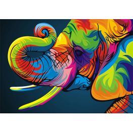 Diamond Painting Set - Regenbogenelefant