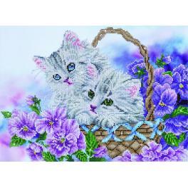 DD10.014 Diamond Painting Set - Korb mit Kätzchen