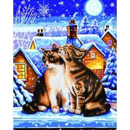 DD9.012 Diamond Painting Set - Katzen unter den Sternen