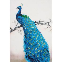 DD13.012 Diamond Painting Set - Blauer Pfau