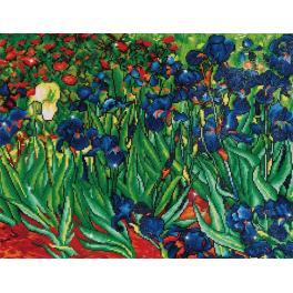 Diamond Painting Set - Schwertlilien nach V.van Gogh