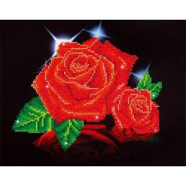 Diamond Painting Set - Glanz der roten Rose