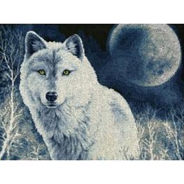 Stickpackung - Weißer Wolf