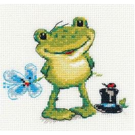 Stickpackung - Kleiner Frosch