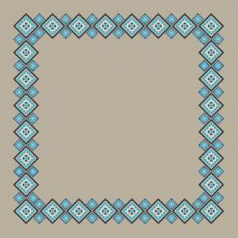 Zählmuster - Ethnische Tischdecke Leinen II