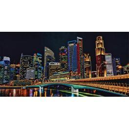 NDK 1102 Stickpackungen mit Perlen - Stadt in der Nacht