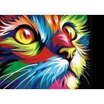 Diamond Painting Set - Regenbogenfarbene Katze