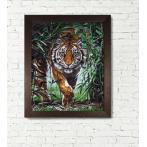 Diamond Painting Set - Gefährlicher Tiger