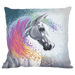 Zahlmuster online - Kissen - Verzaubertes Pferd