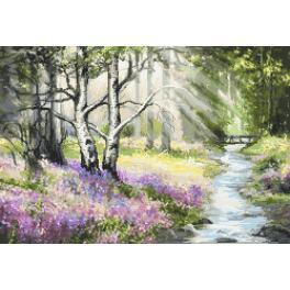 Aida mit Aufdruck - Frühlingswald