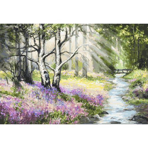 Stickpackung - Frühlingswald