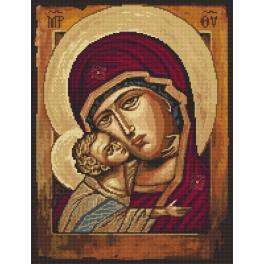 Zahlmuster online - Ikone Mutter Gottes mit Kind