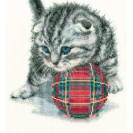 Stickpackung - Lustiges Kätzchen