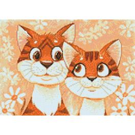 Diamond Painting Set - Verliebte Katzen
