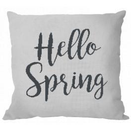 Stickpackung mit Kissenbezug - Kissen - Hello Spring
