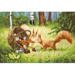 Stickpackung - Eichhörnchen