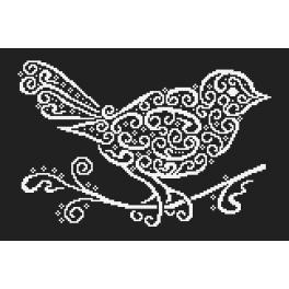 Stickpackungen mit Perlen - Spitzenvogel