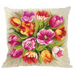 Stickpackung mit Kissenbezug - Kissen - Bezaubernde Tulpen