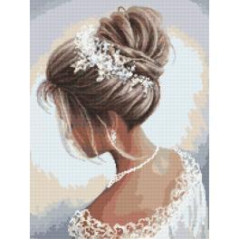 Zählmuster - Dame in Weiß