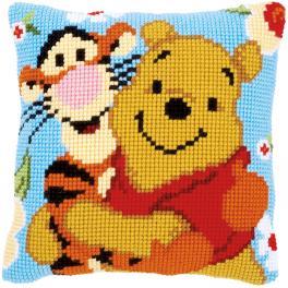 Kreuzstichkissen - Pu der Bär und Tiger