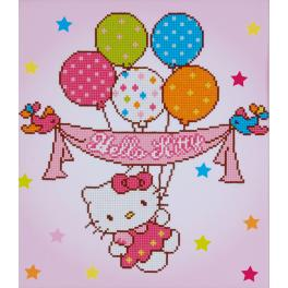 Diamond Painting Set - Hello Kitty mit Luftballons