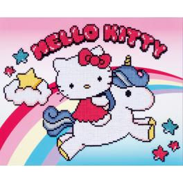Diamond Painting Set - Hello Kitty mit Einhorn