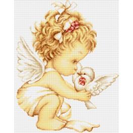 Stickpackung - Engel mit Taube