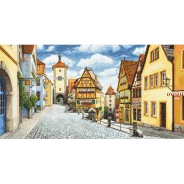 Zahlmuster online - Malerisches Rothenburg