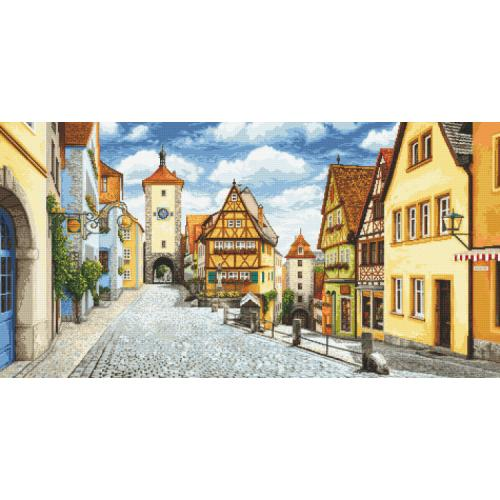 Zählmuster - Malerisches Rothenburg