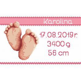 Zählmuster - Geburtsschein - Mädchen