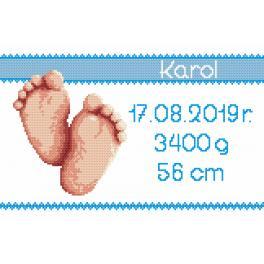 Zählmuster - Geburtsschein - Junge