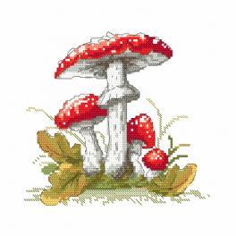 Zahlmuster ONLINE - Pilzgiftpilze