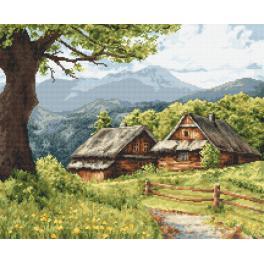 Stickpackung - Berghütten